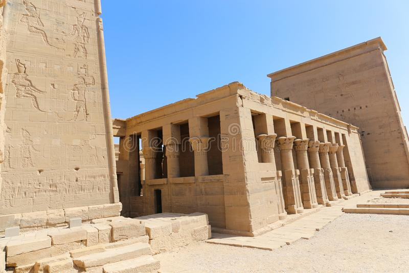 Templo de dios de Horus fotos de archivo