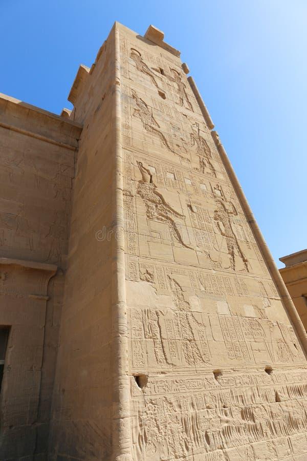 Templo de dios de Horus fotografía de archivo