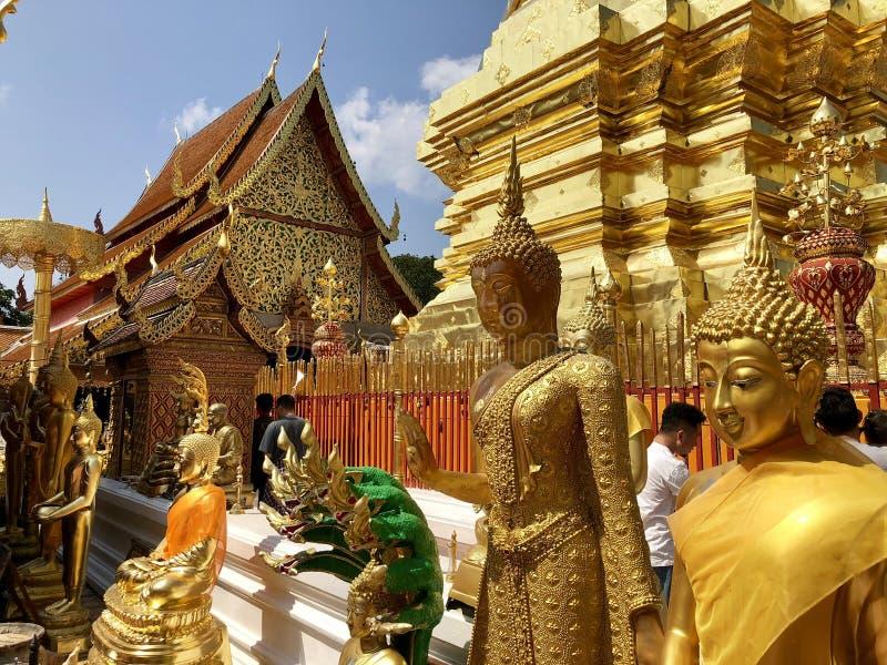Templo de Doi Shuthep fotos de stock royalty free