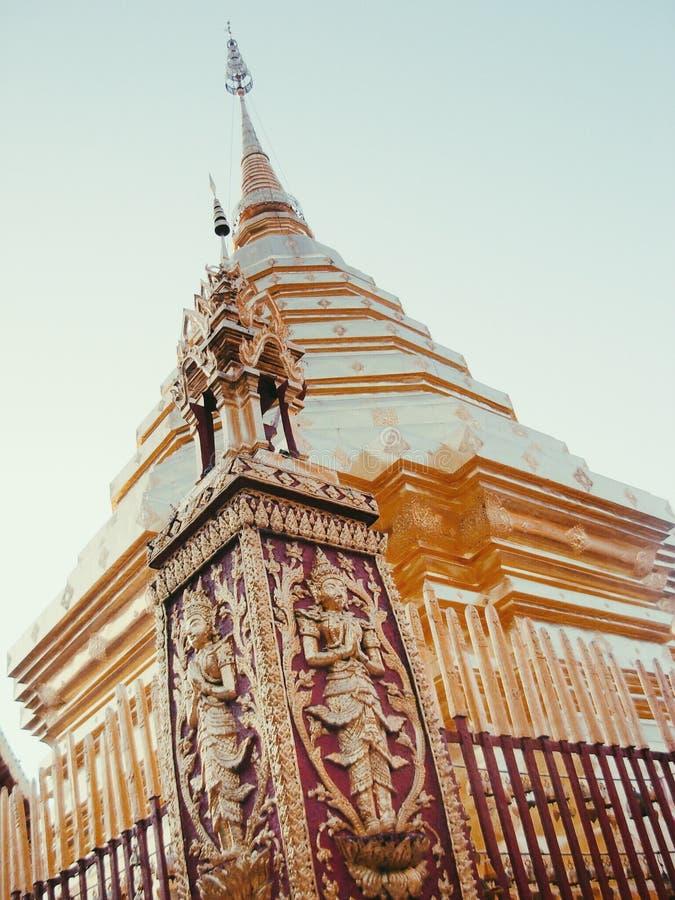 Templo de Doi Suthep imagenes de archivo