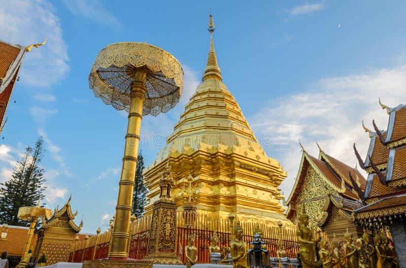Templo de Doi Suthep, marco de Chiang Mai, Tailândia fotos de stock