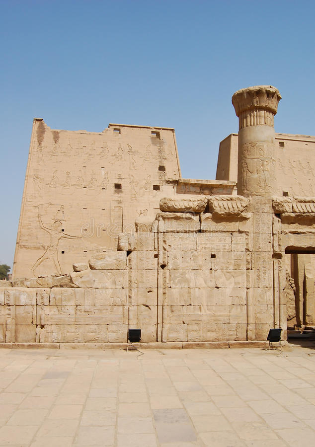 Templo de Edfu, Egipto fotos de archivo libres de regalías