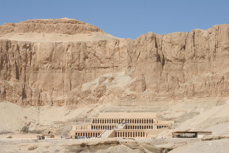 Templo de Egipto Hatschepsut foto de stock