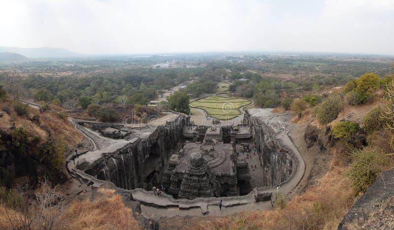 Templo de Ellora Kailasanathar imagem de stock royalty free