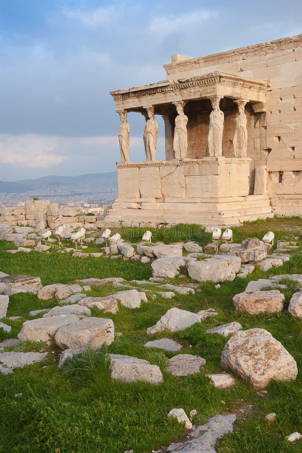 Templo de Erechtheum fotografía de archivo