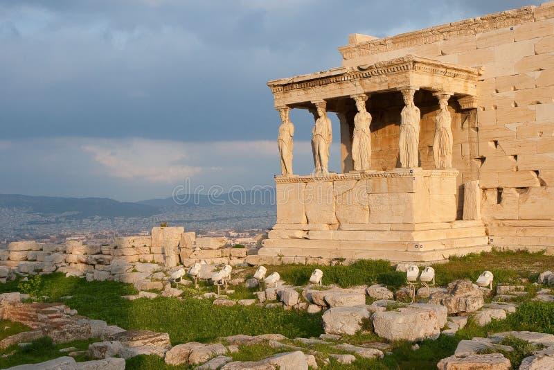 Templo de Erechtheum imagem de stock royalty free