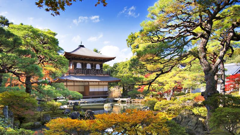 Templo de Ginkaku-ji en Kyoto fotos de archivo