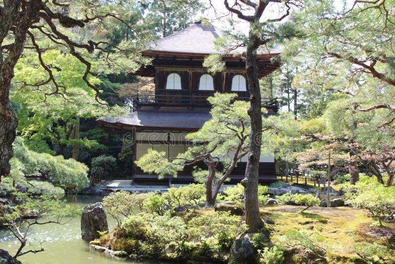 Templo de Ginkakuji foto de stock