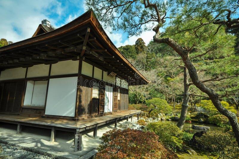 Templo de Ginkakuji, Kyoto, Japão fotos de stock