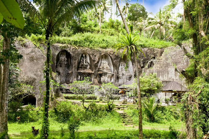 Templo de Gunung Kawi en Bali, Indonesia imagenes de archivo