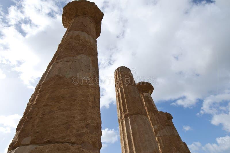 Templo de Hércules imagen de archivo libre de regalías