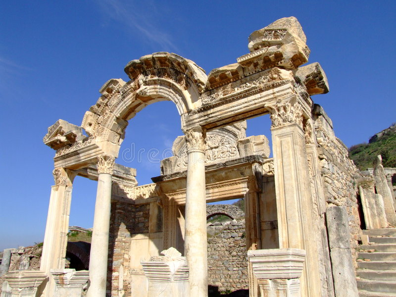 Templo de hadrian foto de stock