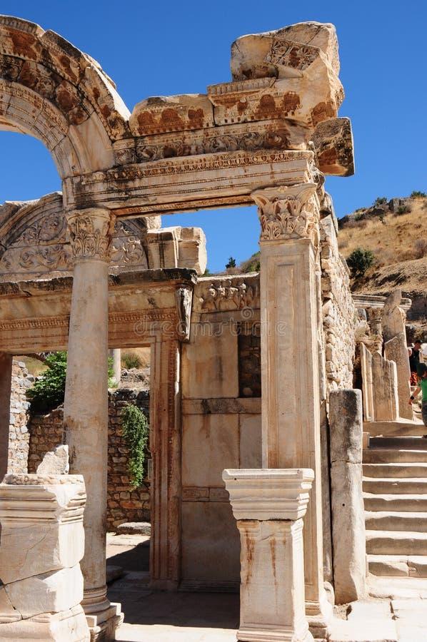 Templo de Hadrian, Ephesus, Turquia y fotos de stock royalty free