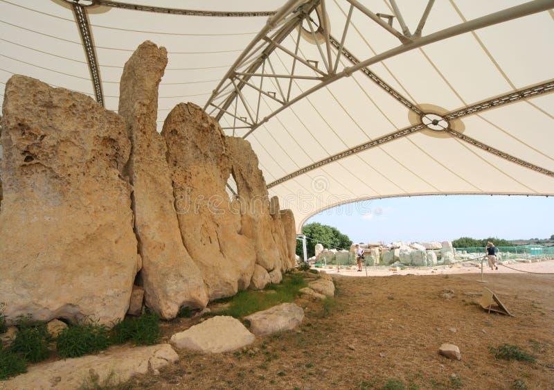 Templo de Hagar Qim imagens de stock