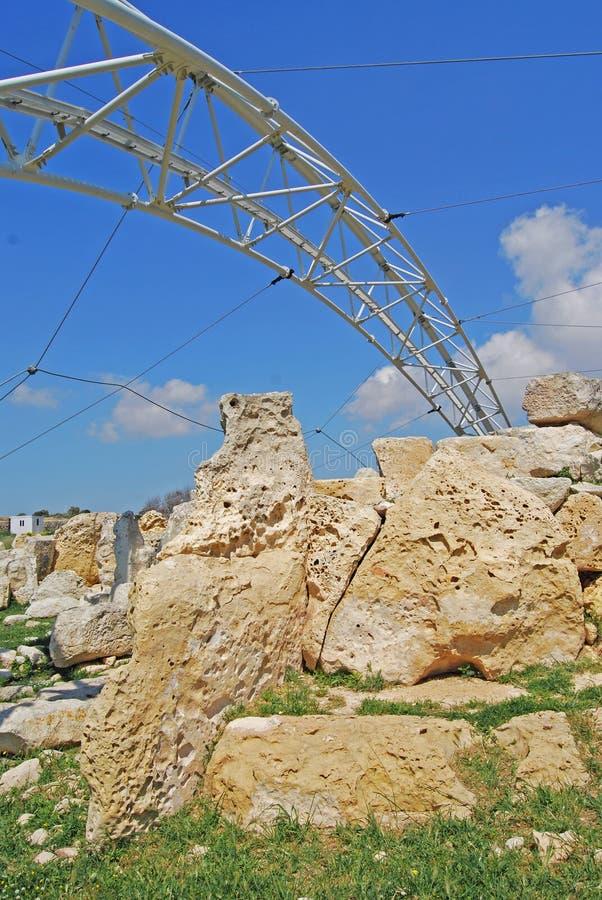Templo de Hagar Qim foto de stock