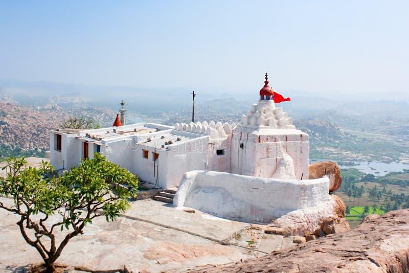 Templo de Hanuman en la colina de Anjenadri en Hampi imagen de archivo