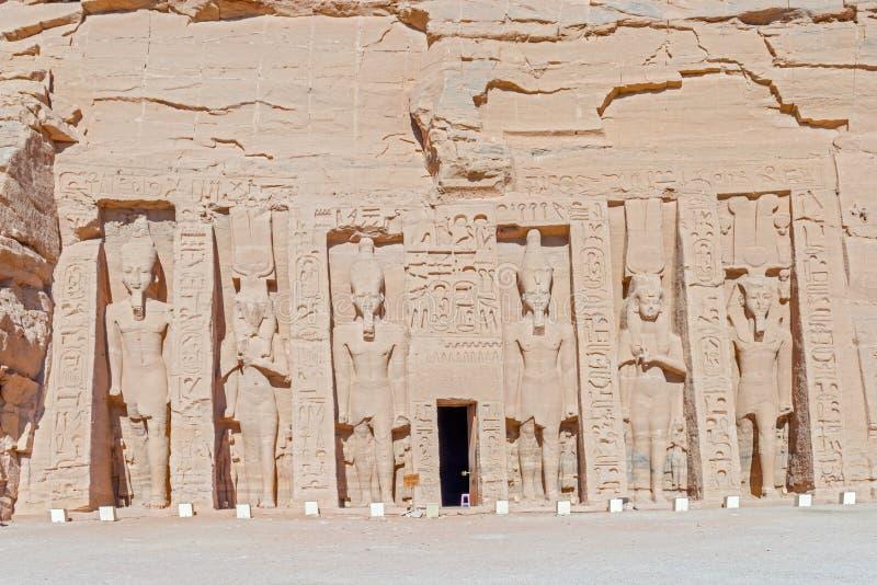 Templo de Hathor e de Nefertari em Abu Simbel foto de stock royalty free