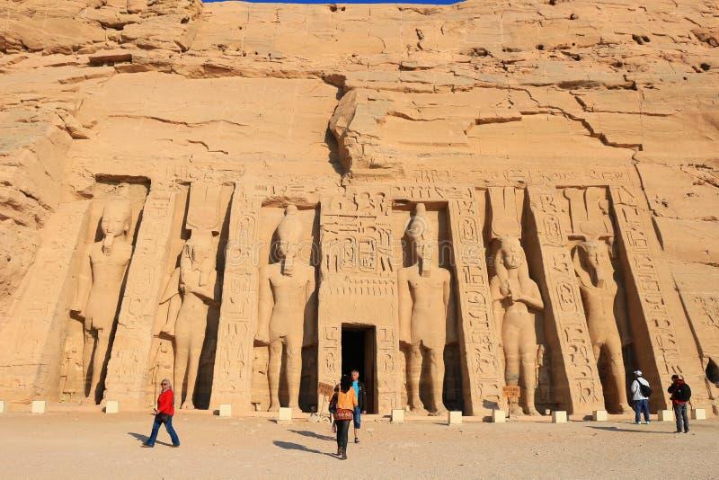 Templo de Hathuor fotos de stock