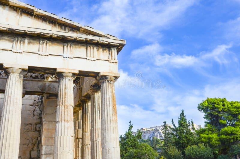 Templo de Hephaestus, Atenas, Greece fotografia de stock