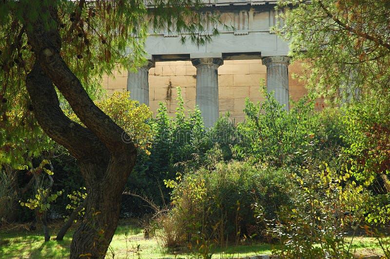 Templo de Hephaestus em Atenas fotografia de stock