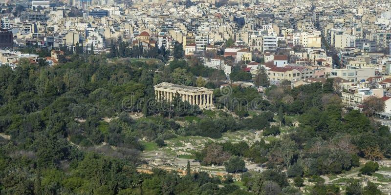 Templo de Hephaestus em Atenas, Greece foto de stock