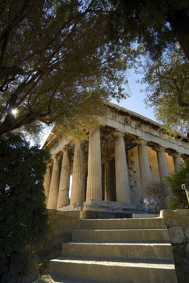 Templo de Hephaestus em Athens_3 fotos de stock royalty free