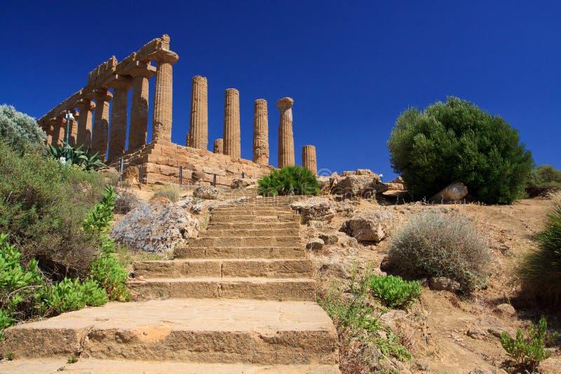 Templo de Hera - Agrigento foto de archivo