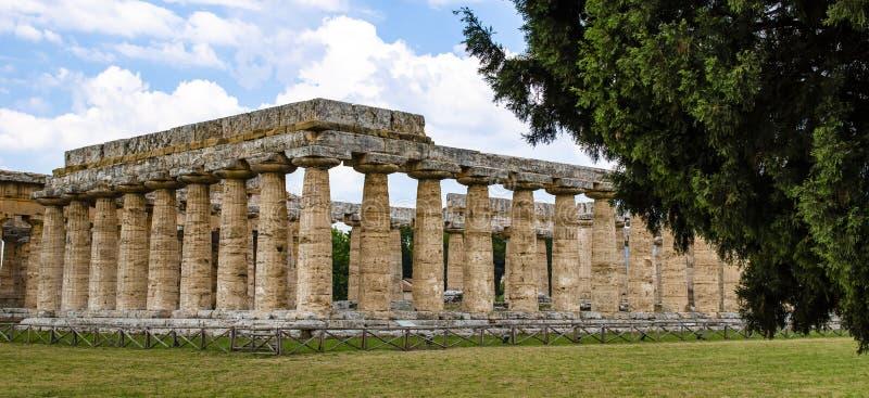 Templo de Hera el Paestum famoso imagenes de archivo