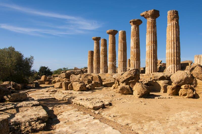 Templo de Heracles fotografía de archivo libre de regalías
