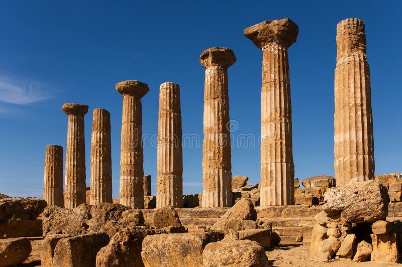 Templo de Heracles imagen de archivo