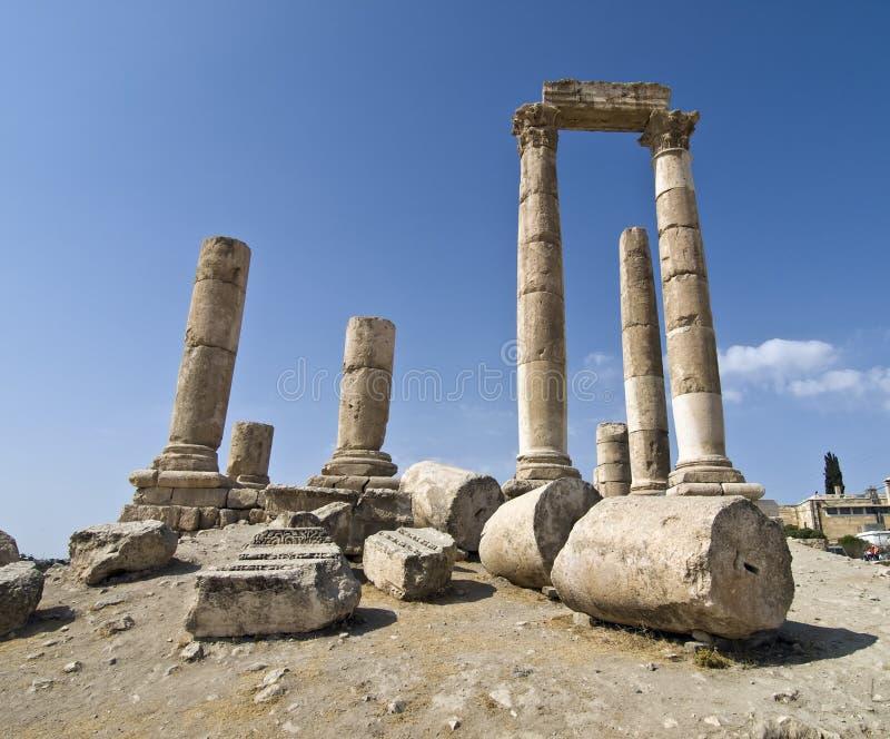 Templo de Hercules no Ci de Amman imagens de stock royalty free