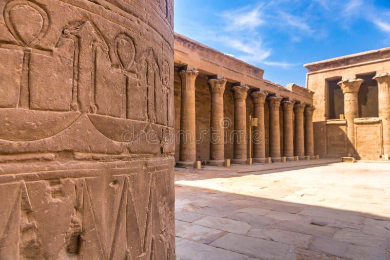 Templo de Horus, Edfu, Egipto fotografía de archivo libre de regalías