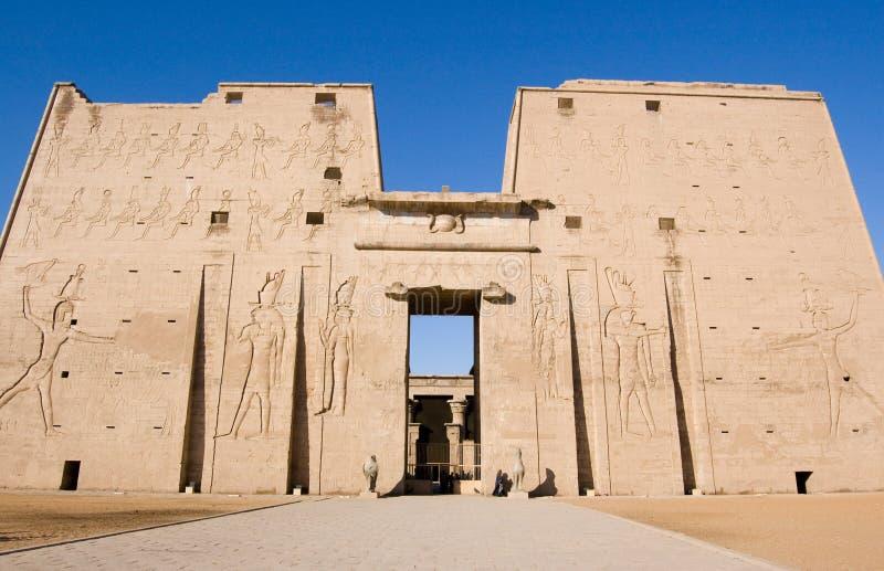 Templo de Horus, Edfu, Egipto imagen de archivo libre de regalías