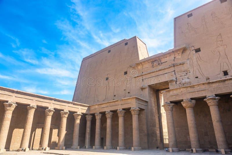 Templo de Horus, Edfu, Egito foto de stock