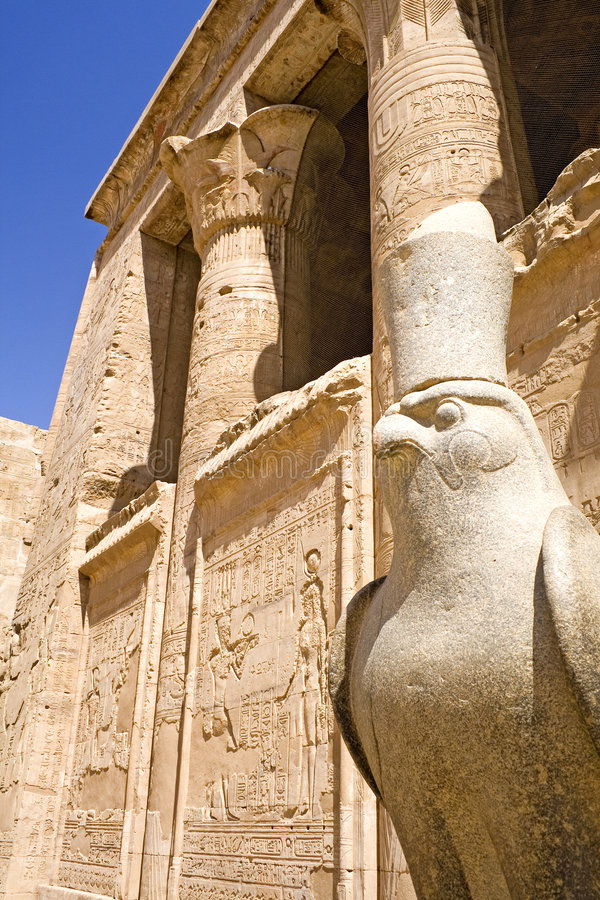 Templo de Horus em Edfu imagens de stock royalty free