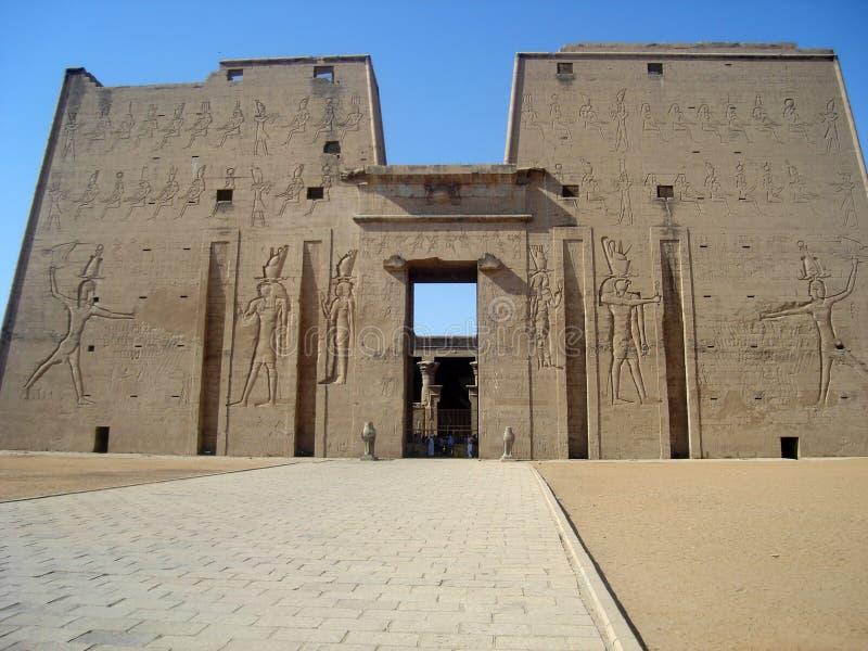 Templo de Horus en Edfu fotografía de archivo