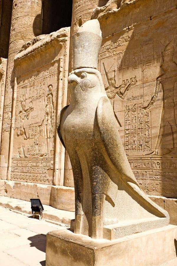 Templo de Horus en Edfu imagenes de archivo