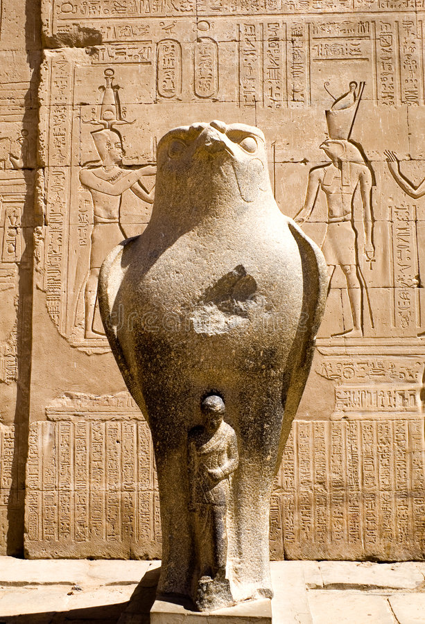 Templo de Horus en Edfu fotos de archivo