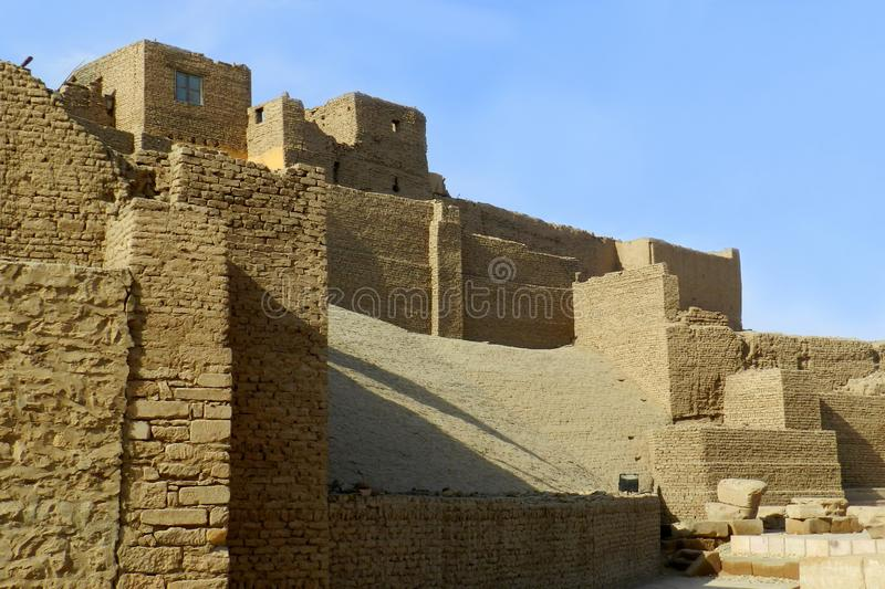 Templo de Horus en Edfu, Egipto foto de archivo
