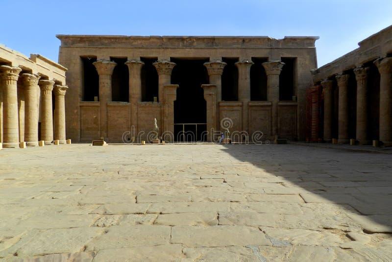 Templo de Horus en Edfu, Egipto imagen de archivo