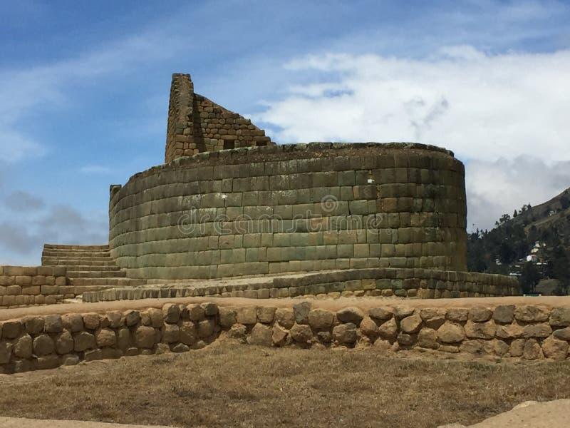 Templo de Ingapirca Sun fotografia de stock
