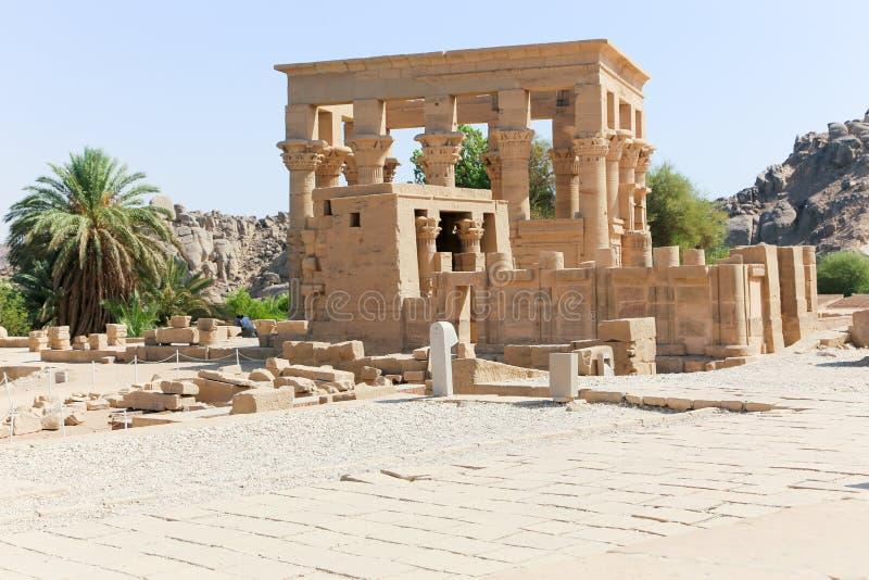 Templo de ISIS - Asuán, Egipto imagen de archivo