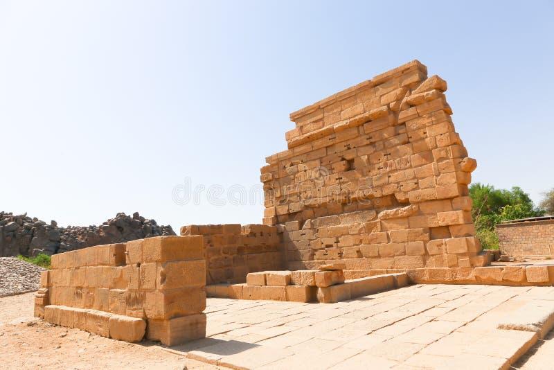 Templo de ISIS - Asuán, Egipto foto de archivo libre de regalías
