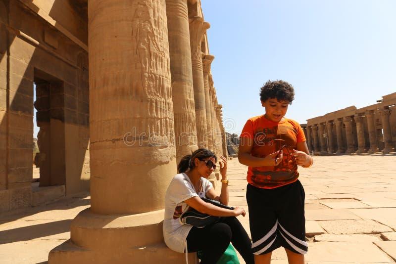 Templo de ISIS Philae en Asuán, Egipto foto de archivo