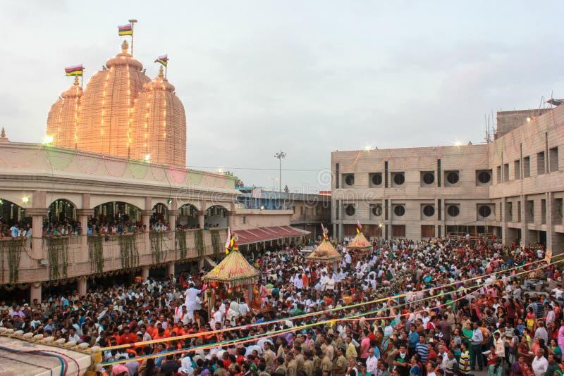 Templo de Jagannath, Ahmadabad, la India foto de archivo libre de regalías