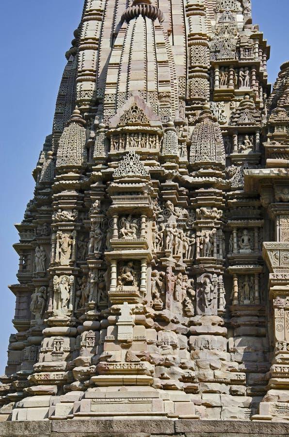 TEMPLO de JAVARI, arco de la entrada - Makara Torana, grupo del este, Khajuraho, Madhya Pradesh, sitio del patrimonio mundial de  fotos de archivo libres de regalías