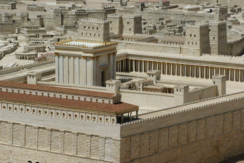 Templo De Jerusalem Segundo, Israel Fotos de Stock