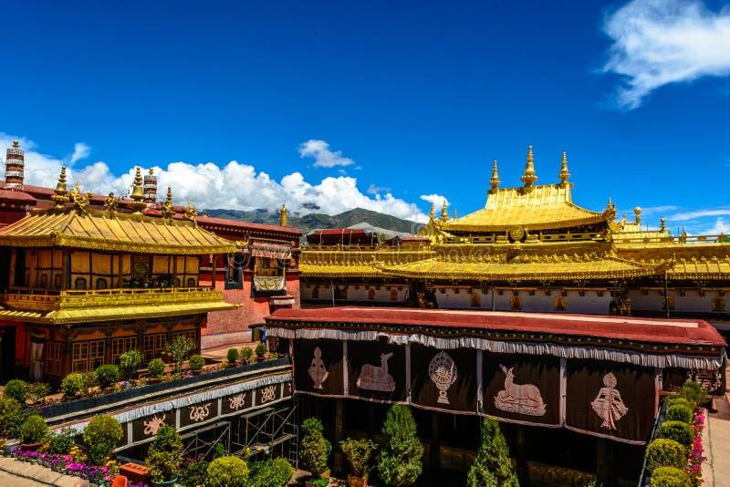 Templo de Jokhang imagenes de archivo