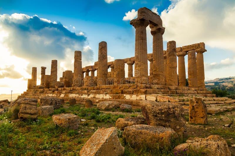 Templo de Juno foto de stock royalty free