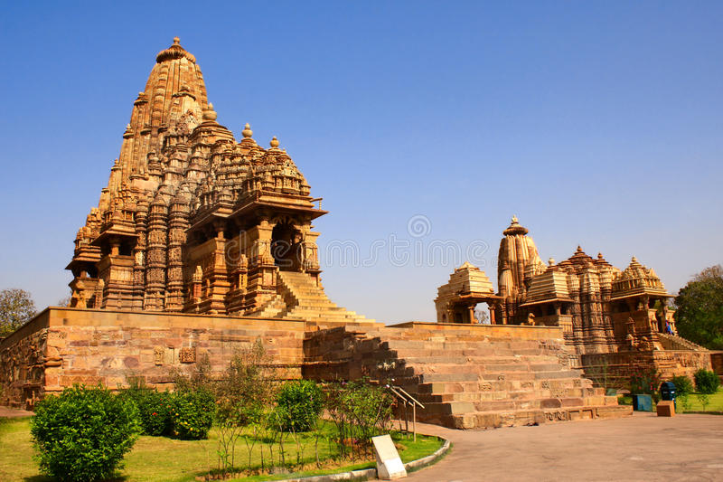 Templo de Kandariya Mahadeva, Khajuraho, Madya Pradesh, la India fotos de archivo